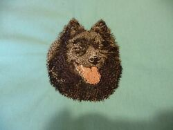Schipperke Head A Dog Embroidery Many Items Quilt Sewing Carols Crate Cover