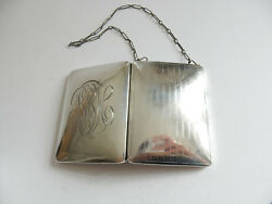 Antique Solid Silver Chatelaine Sovereign Coin Compact Cigarette Purse Whs And C