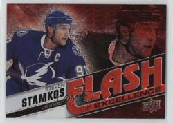 2015 Upper Deck Gts Overtime Flash Of Excellence Red Rainbow /10 Steven Stamkos