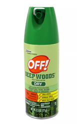 6-pack Off Deep Woods - Dry - Mosquito / Insect Repellent Viii Dry 2.5 Oz.