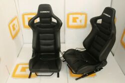 H/B white stitch Corbeau pair of seats OE heated Fit and Rover Defender 90/110