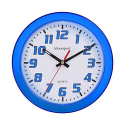 8 Inch Wall ClockSilent Non Ticking Quartz Battery Operated Round Easy to Read