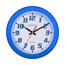 8 Inch Wall Clocksilent Non-ticking Quartz Battery Operated Round Easy To Read