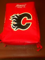 NHL CALGARY FLAMES & BUDWEISER Drinks Cooler Backpack - Hardly Used