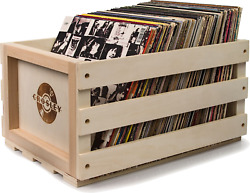 Record Storage Crate Holds Up To 75 Albums Natural