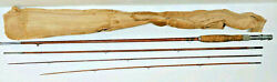 88 3pc 2 Tip Bamboo Fly Fishing Rod Vintage Antique Hand Made Heirloom Pole