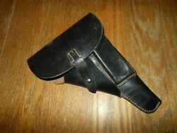 Ww2 German Wehrmacht Police Walther P38 Leather Soft Shell Holster - Superb