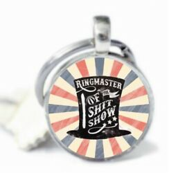 RINGMASTER OF THE SH*T SHOW Keychain BOSS Christmas Gift Silver Key Chain