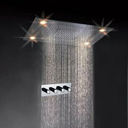 Cascada 31 Inch 600mmx800mm Shower Head Set Ceiling-mount With Remote Control