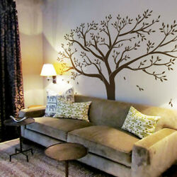 99quot;x79quot; Large Tree Black Wall Sticker Removable Home Room Art Decor Mural Decal