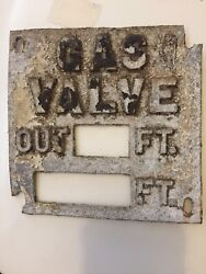 Collectible Metal Gas Valve Signage