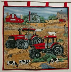 Case Ih Red Tractors Farm Tapestry Wall Hanging Vintage 2000 35 Cotton Quilting