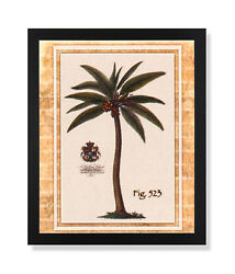 Tropical Palm Tree Room Landscape Wall Picture Black Framed Art Print