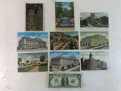 9 Vintage Postcards Of Various Landmarks And Scenic Views From Ohio