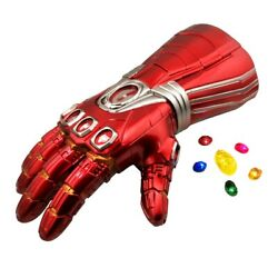Iron Man Avengers Infinity War Gauntlet Adult Glove w Removable LED Light Stone