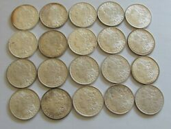 1887 P20 Roll Morgan Silver Dollars 1887very Nice Roll-bu Frosty-some Toned