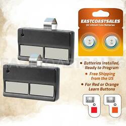 2 For Liftmaster 972lm Button Car Garage Door Opener Remote Control 390mhz