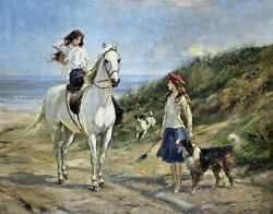 Holiday Time By Heywood Hardy. Children Repro. Made In U.s.a Giclee Prints
