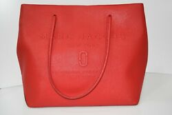 Marc Jacobs Logo East West Leather Tote Red Bag 0901 $109.99