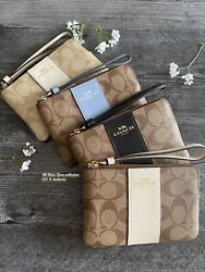 New Coach F58032 F58035 F88829 Corner Zip Wristlet Wallet New With Tags $49.00