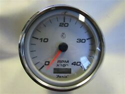 Faria Oversized Tachometer Gauge W/digital Hour Meter Thc914a Gray Face Boat