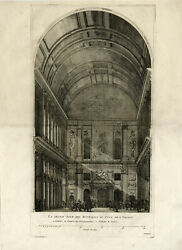 2 Antique Prints-CITY HALL-INTERIOR-DECORATION-AMSTERDAM-PL.XXXII-Quellinus-1719
