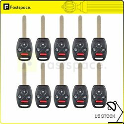 10 Replacement Uncut Remote Key Fob Keyless Entry Transmitter For HONDA CIVIC