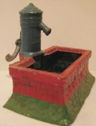 Old Rare French Lead Garden Water Pump And Well For Christmas Putz Farm Village
