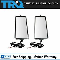 16 X 7 Stainless Steel West Coast Mirror Pair Heated Turn Signal Bubble Back