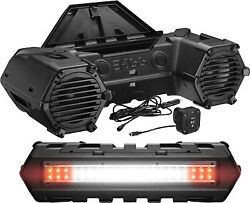 Boss Audio Atvb95led Off Road Amplified Sound System Bt Enabled Dual Led Light