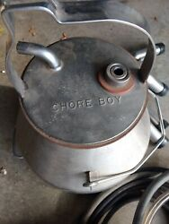 Vintage Chore Boy Milking Machine With Cap, Claws, And 2 Sets Of 4 Teat Caps
