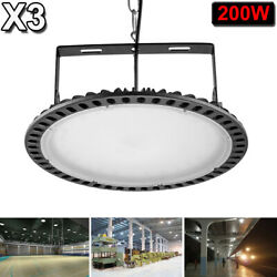 3X 200W UFO LED High Bay Light Factory Warehouse Industrial Shop Shed Lighting