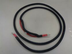 2/0 Red Electrical Battery Cable 1836682 With Lug Ends 12' Marine Boat
