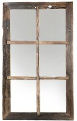 60 L Natalino Mirror Flat Polished Glass One Of A Kind Reclaimed Pine Rustic