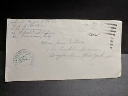 USS BOSTON CA 69 Naval Cover 1944 Censored WWII Sailor#x27;s Mail NEW GUINEA