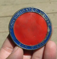 Ww2 Consolidated Vultee Manufacturer Id Identification Employee Badge Pin