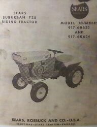 Sears Suburban David Bradley 725 Riding Tractor Owner And Engine Parts 2 Manuals