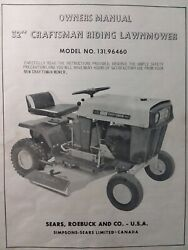 Sears Craftsman 32 Riding Lawn Mower 131.96460 Owner Parts And Engine 2 Manuals