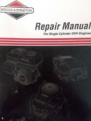 Briggs And Stratton Ohv Single Cylinder Engine Repair Service Manual Lawn Mower