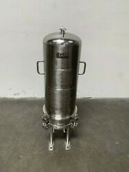 Cuno 7zwb2 316l Stainless Steel Cartridge Filter Housing 150psi @176anddegc