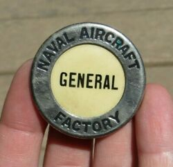 Ww2 Naval Aircraft Factory Manufacturer Id Identification Employee Badge Pin