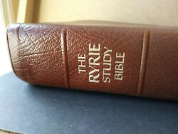 The Ryrie Study Bible - Niv-- Brown Cowhide 1986-acceptable Condition, See Photo
