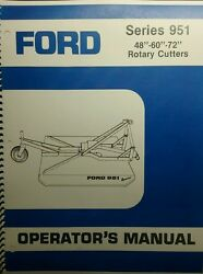 Ford 951 3-point Hitch Brush Field Mower Owner, Parts And Service Manual Tractor
