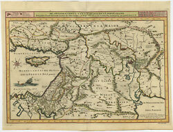 Antique Map-middle East-israel-palestine-canaan-coloured-danckerts-c. 1718