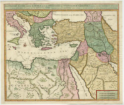 Antique Map-israel-palestine-middle East-apostle Paul-covens And Mortier-c. 1700