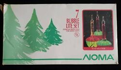Vintage Noma Bubble Lights Clip String Christmas Tree Electric Working 7
