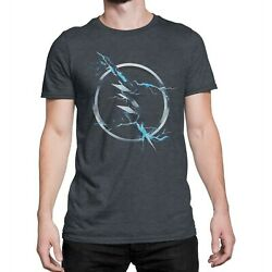 Flash Zoom Symbol Charcoal Menand039s T-shirt Heather Charcoal