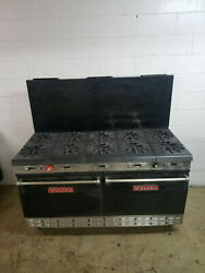 Vulcan 60'' 10 Burner 2 Full Size Ovens Natural Gas Tested