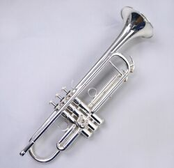Yamaha Ytr-4335gs2 Bb Trumpet Gold Brass Silver Plated Ems W/ Tracking New
