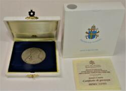 Nib Sterling 2000 Jubilee Official Vatican Apostolic Medal Giovanni Paolo Ii 40g